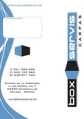 Tríptico publicitario Box Servis
